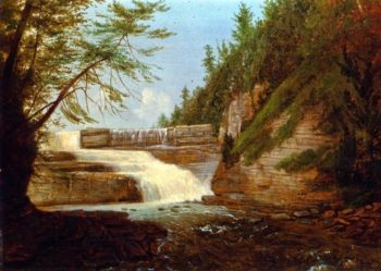 View of High Fall Trenton Falls | John Carlin | oil painting