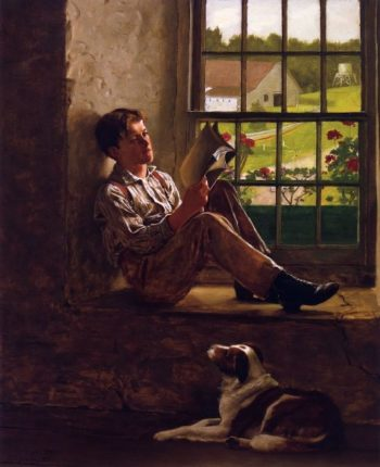 The Study Hour | John George Brown | oil painting