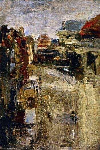 Boulevard Van Iseghem in the Rain | James Ensor | oil painting