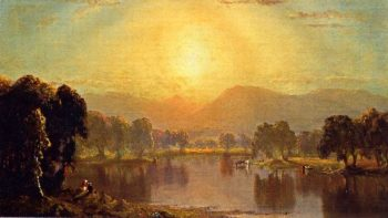 Bend in the Juniata River | Sanford Robinson Gifford | oil painting