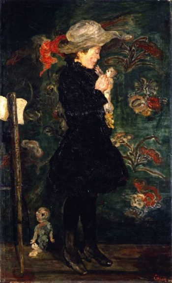Child with Doll | James Ensor | oil painting