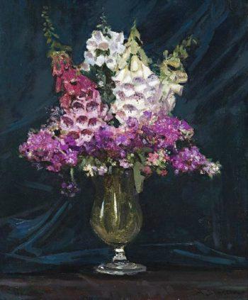 Foxgloves and Stocks | Sir Arthur Streeton | oil painting