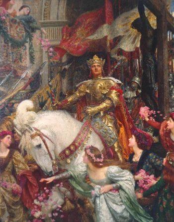 The Two Crowns | Sir Francis Bernard Dicksee | oil painting