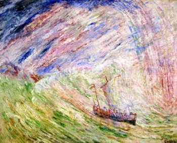 Christ Calming the Storm | James Ensor | oil painting