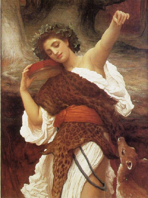Bacchante   Sir Frederick Lord Leighton   oil painting