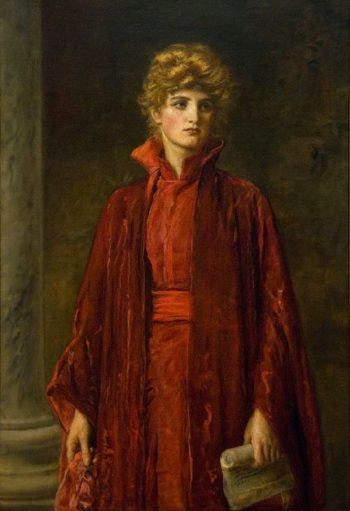 Portia   Sir John Everett Millais   oil painting