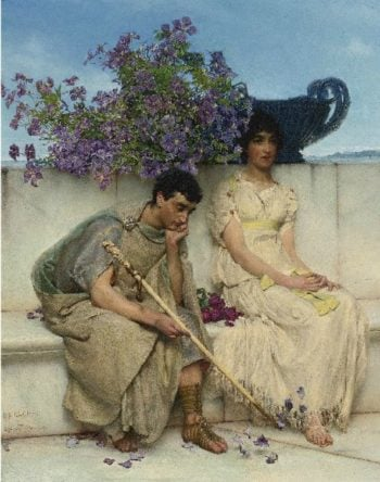 An Eloquent Silence | Sir Lawrence Alma Tadema | oil painting