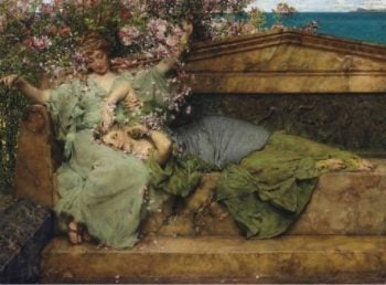 In a Rose Garden | Sir Lawrence Alma Tadema | oil painting