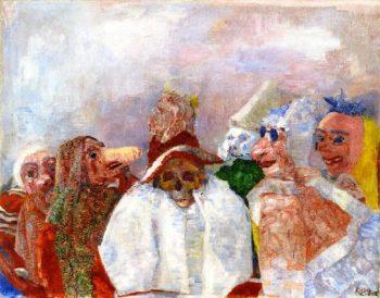 Masks Mocking Death | James Ensor | oil painting