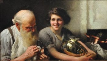 A merry heart goes a long way | Thomas Benjamin Kennington | oil painting
