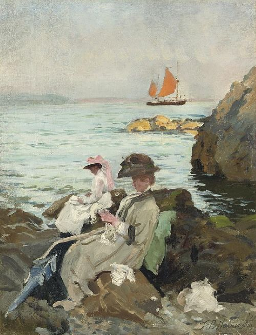 Amongst the Rocks | Thomas Benjamin Kennington | oil painting
