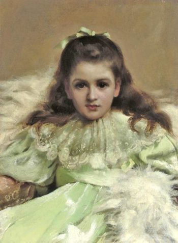 Anne as Alice in Wonderland | Thomas Benjamin Kennington | oil painting