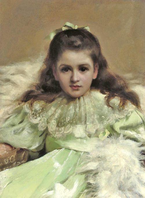 Anne as Alice in Wonderland | Thomas Benjamin Kennington | oil painting