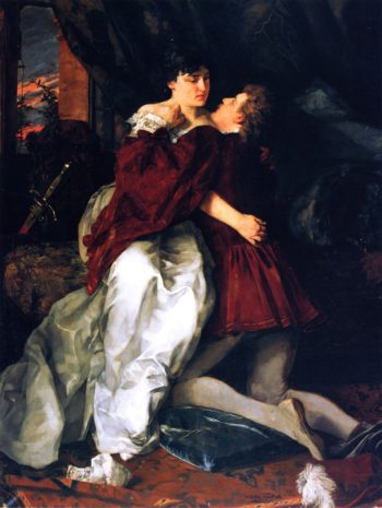 Adelheid und Franz (also known as Romeo and Juliette) | Wilhelm Trubner | oil painting