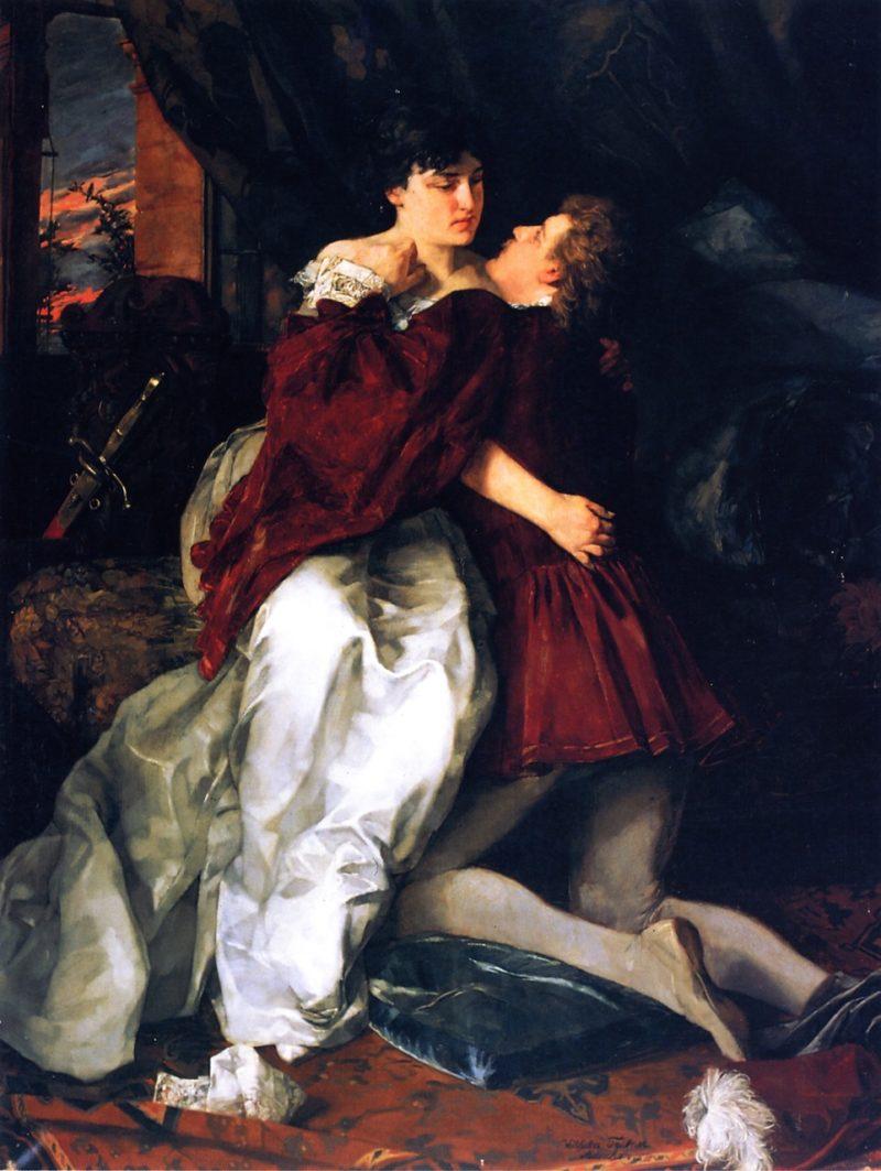 Adelheid und Franz (also known as Romeo and Juliette) | Wilhelm Trubner | oil painting