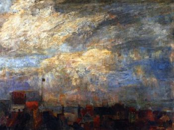 Rooftops of Ostend | James Ensor | oil painting