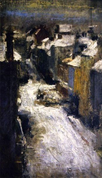 Rue de Flandre in the Snow | James Ensor | oil painting