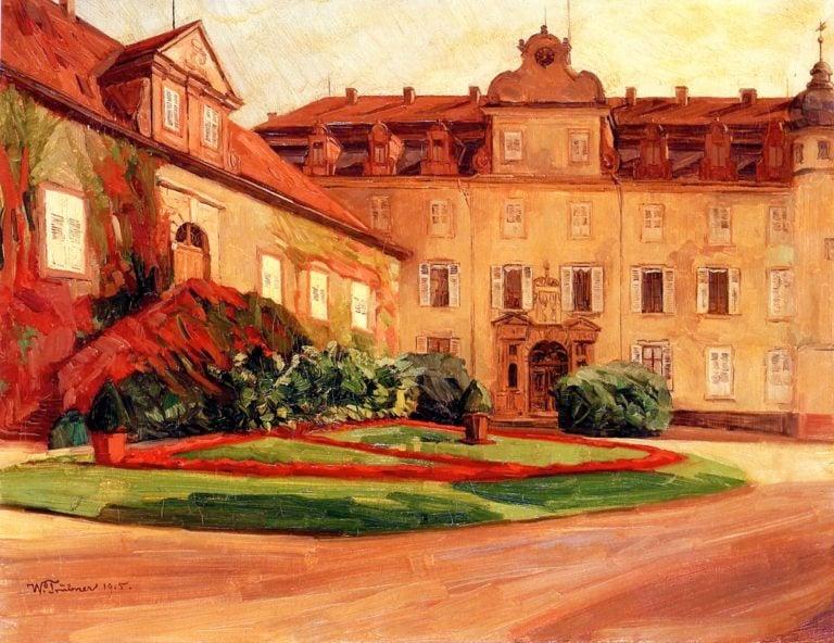 Baden Baden Castle   Wilhelm Trubner   oil painting
