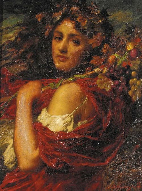Bacchante | Thomas Benjamin Kennington | oil painting