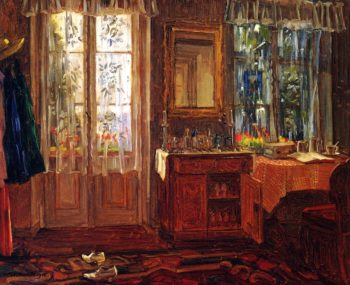 Balcony and Interior at Starnberg Lake | Wilhelm Trubner | oil painting