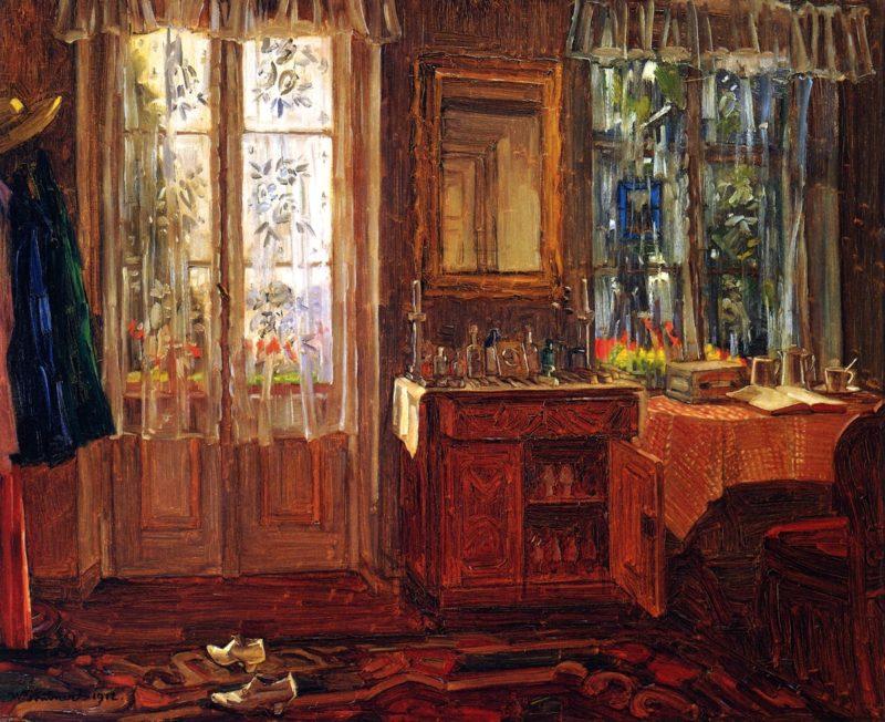Balcony and Interior at Starnberg Lake | Wilhelm Trubner | oil painting