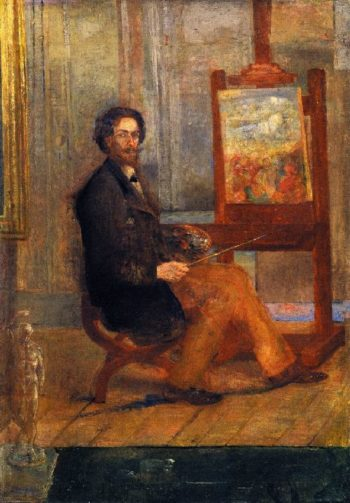 Self Portrait at the Easel | James Ensor | oil painting