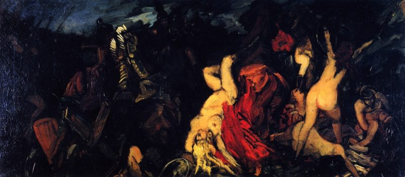 Battle of the Amazons | Wilhelm Trubner | oil painting