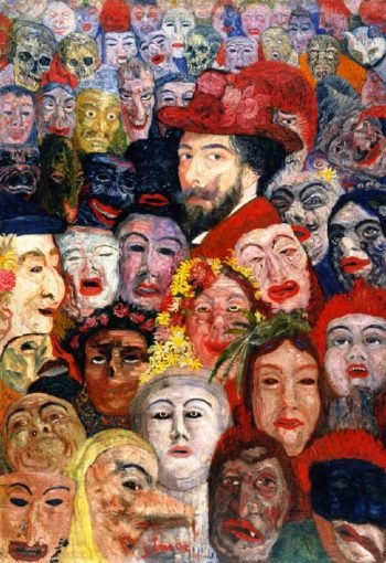 Self Portrait with Masks | James Ensor | oil painting
