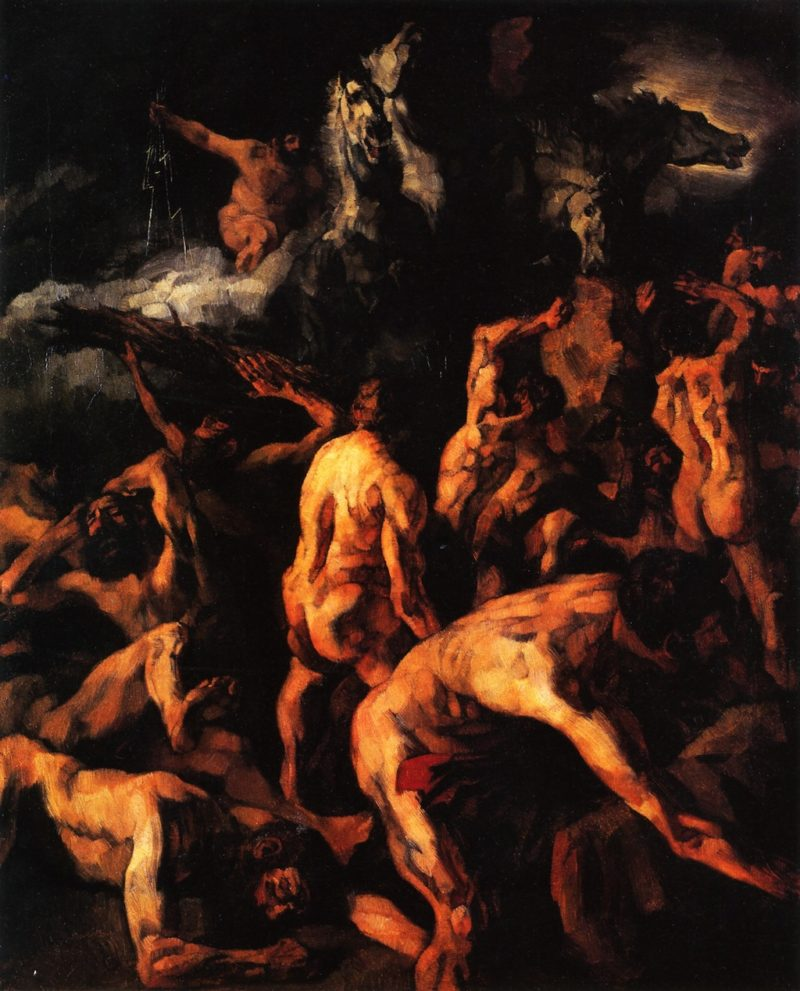 Battling Giants | Wilhelm Trubner | oil painting