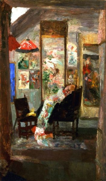 Skeleton Looking at Chinoiseries | James Ensor | oil painting