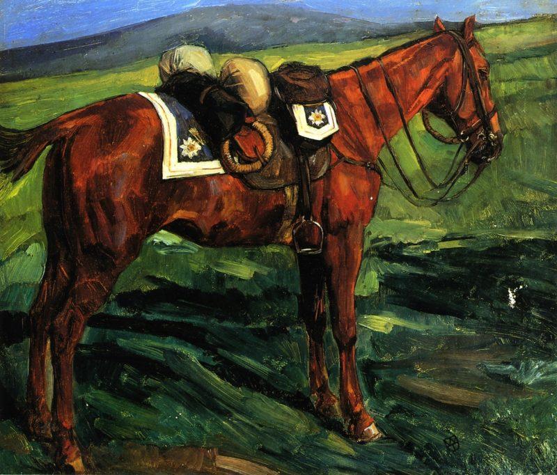Bepacktes Kurassierpferd | Wilhelm Trubner | oil painting