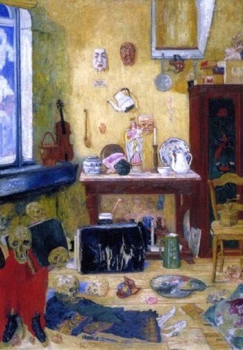 Skeletons in the Studio | James Ensor | oil painting