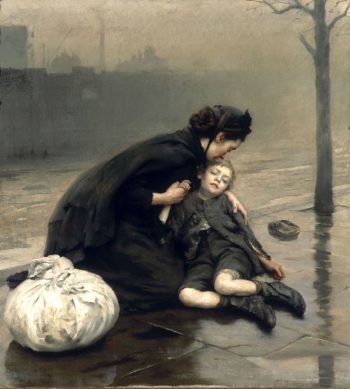 Homeless | Thomas Benjamin Kennington | oil painting