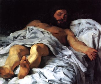 Christ Taken down from the Cross | Wilhelm Trubner | oil painting