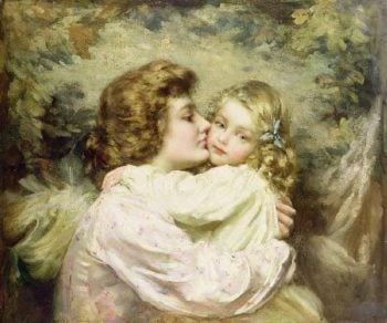 Mother and Daughter | Thomas Benjamin Kennington | oil painting