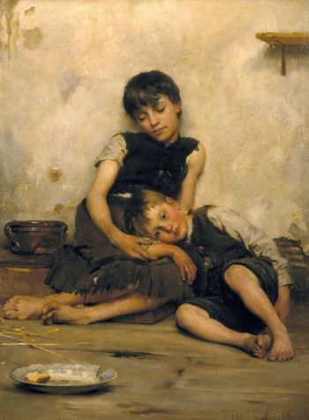 Orphans | Thomas Benjamin Kennington | oil painting