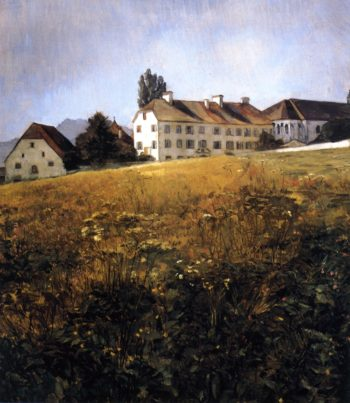 Convent Meadow at Chiiemsee | Wilhelm Trubner | oil painting