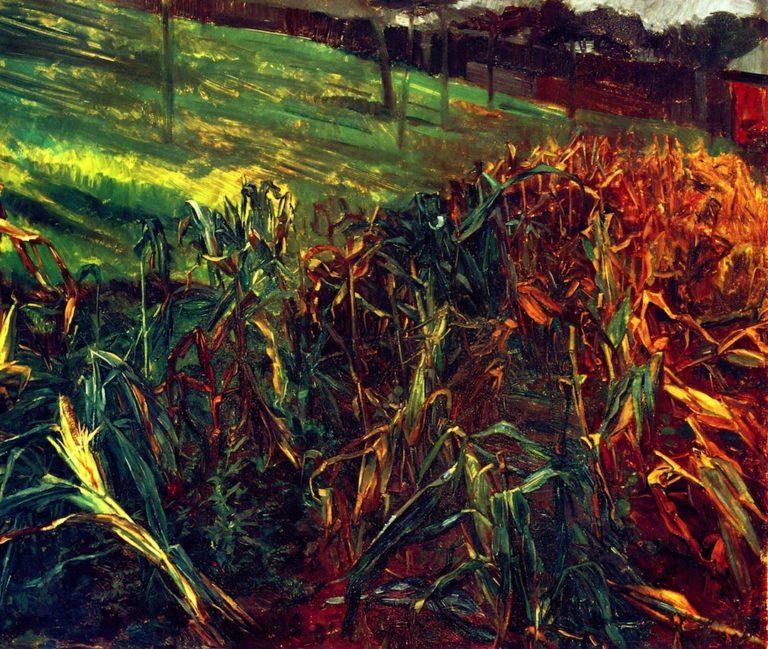 Corn Field | Wilhelm Trubner | oil painting