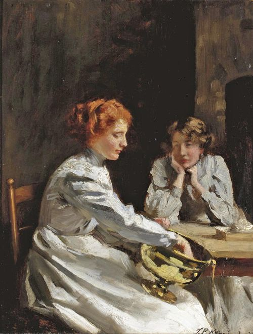 Polishing the Brass | Thomas Benjamin Kennington | oil painting