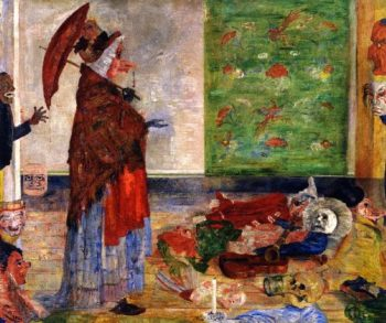 The Astonishment of the Mask Wouse | James Ensor | oil painting