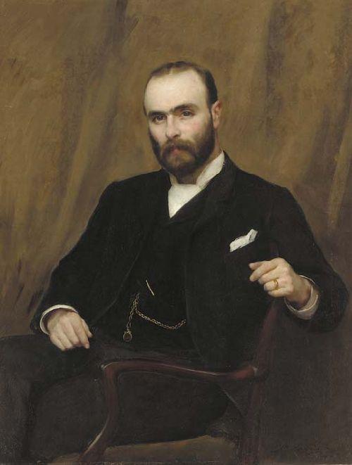 Portrait of Alexander Garthside White | Thomas Benjamin Kennington | oil painting