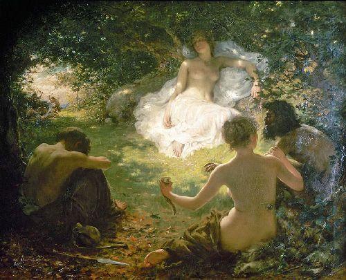 Serena Found of Savages | Thomas Benjamin Kennington | oil painting