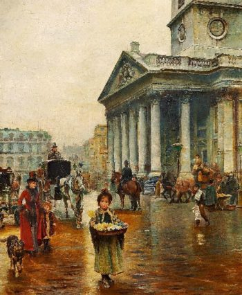 St Martin in the Fields | Thomas Benjamin Kennington | oil painting