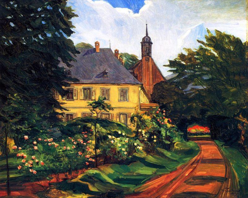 Einfahrtsweg zum Stift Neuburg | Wilhelm Trubner | oil painting
