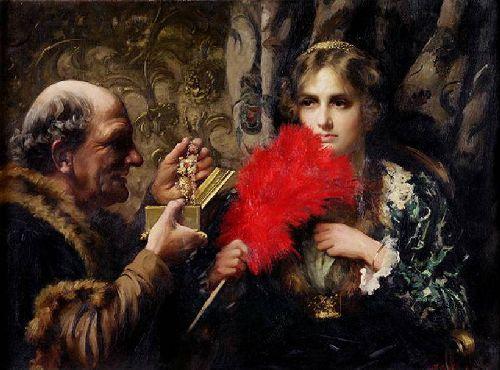 Temptation | Thomas Benjamin Kennington | oil painting
