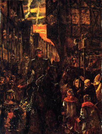 Einzug Friedrich des Siegreichen in Heidelberg | Wilhelm Trubner | oil painting