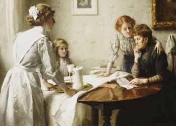 The Letter 1 | Thomas Benjamin Kennington | oil painting