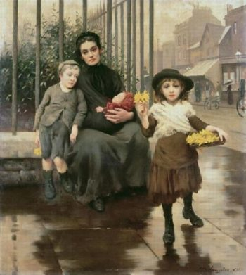 The Pinch of poverty | Thomas Benjamin Kennington | oil painting