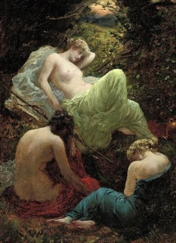The Siesta of Diana | Thomas Benjamin Kennington | oil painting