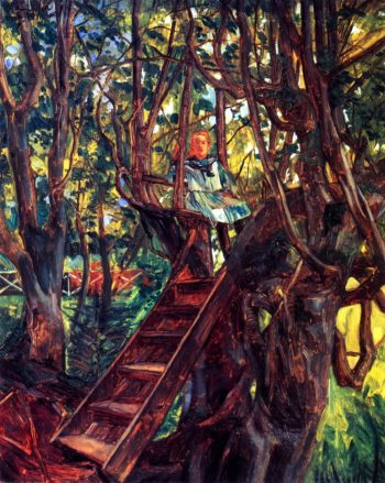 Girl in a Tree | Wilhelm Trubner | oil painting